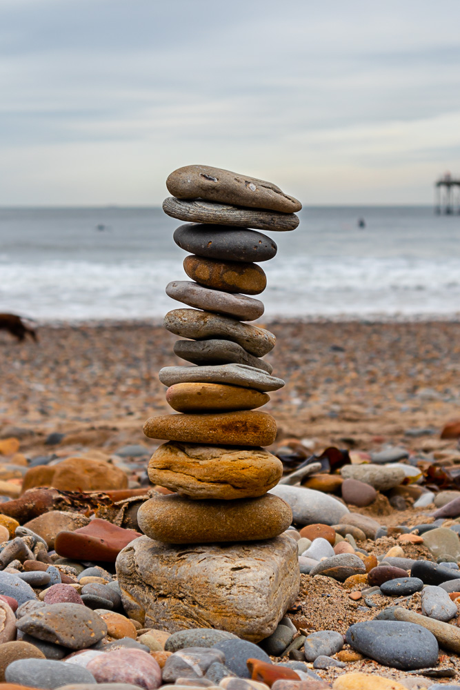 Saltburn-by-the-Sea pebble tower