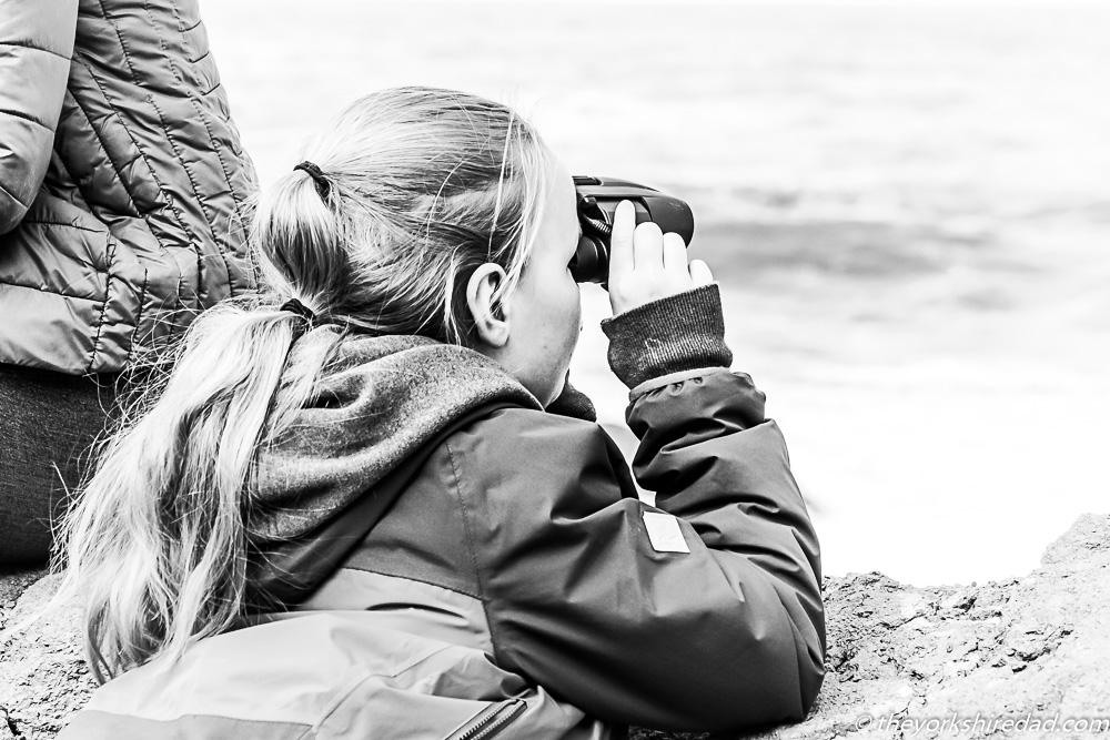 A girls using binoculars | The Yorkshire Dad of 4