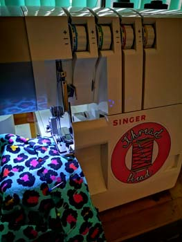 sewing with an overlocker