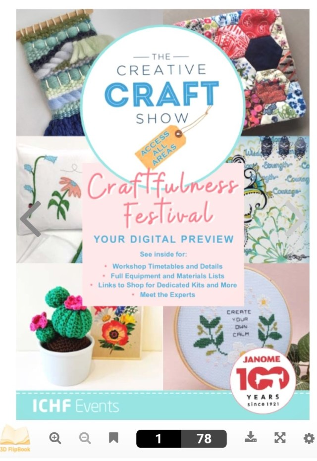 Front cover of Craftfulness digital show guide