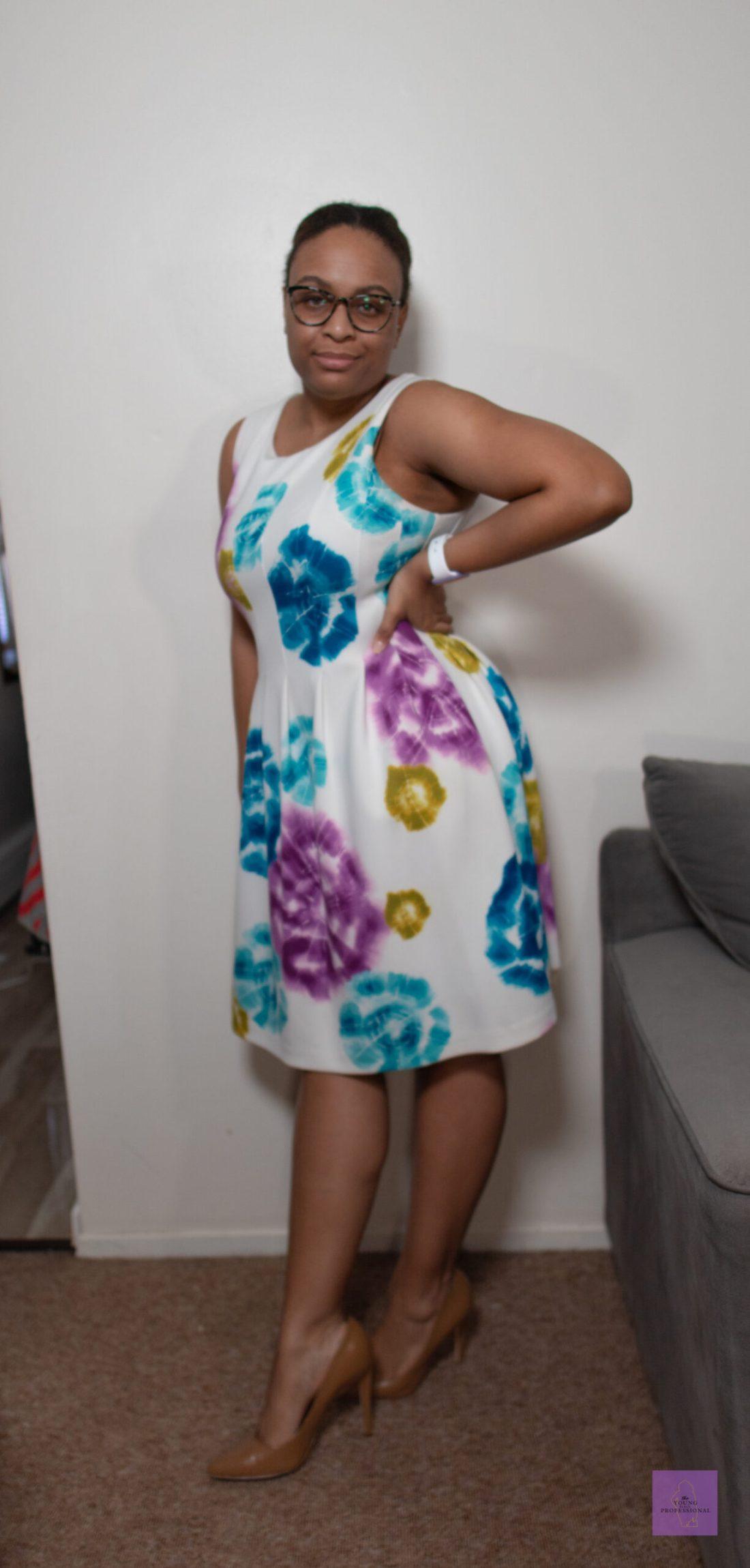 summer workwear floral dress 3