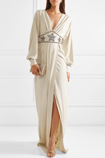 Gucci white wedding dress fashion style bridal designer runway
