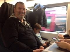 On the Eurostar...