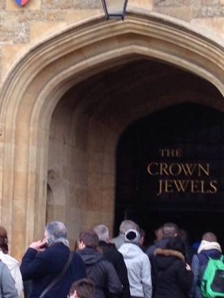Waiting to enter the Jewel Tower