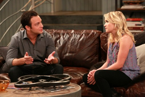 """YOUNG & HUNGRY - """"Young & How Gabi Got Her Job Back"""" - Gabi returns from Switzerland and is nervous to see Josh on the summer premiere of ABC Family's original comedy """"Young & Hungry,"""" airing on Wednesday, August 19th at 8:30 p.m. ET/PT. (ABC Family/Ron Tom) JONATHAN SADOWSKI, EMILY OSMENT"""