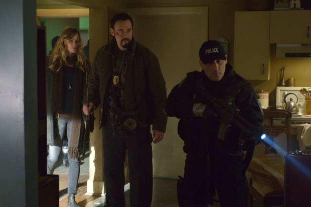"""THE STRAIN -- """"Quick and Painless"""" -- Episode 205 (Airs August 9, 10:00 pm e/p) Pictured: (l-r) Ruta Gedmintas as Dutch Velders, Kevin Durand as Vasiliy Fet.  CR: Michael Gibson/FX"""
