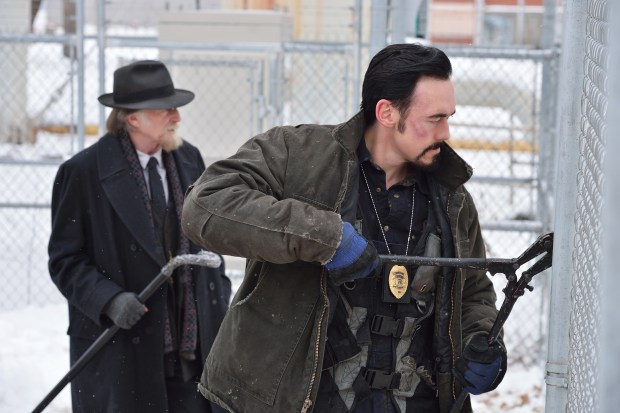 Pictured: (l-r) David Bradley as Abraham Setrakian, Kevin Durand as Vasiliy Fet. CR: Michael Gibson/FX