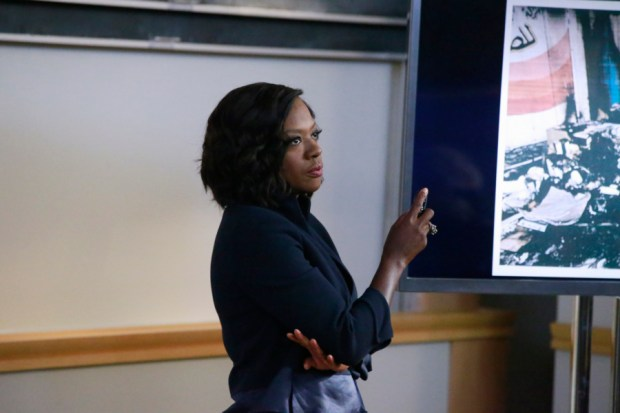 """HOW TO GET AWAY WITH MURDER - """"We're Good People Now"""" - With Wallace Mahoney's murder unsolved and Frank's whereabouts unknown, the """"Keating 5"""" struggle to move on with their lives as they enter into their second year of law school. Meanwhile, Annalise's reputation at Middleton University is on the line, so she creates a criminal law clinic where the students will compete to try their own pro bono cases. Annalise also wrestles with a decision involving Frank that could change everything, on the highly anticipated season premiere of """"How to Get Away with Murder,"""" THURSDAY, SEPTEMBER 22 (10:00-11:00 p.m. EDT), on the ABC Television Network. (ABC/Mitch Haaseth) VIOLA DAVIS"""