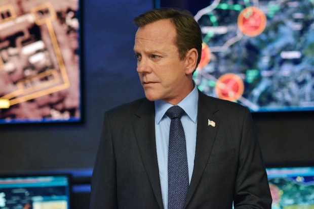 "DESIGNATED SURVIVOR - ""The Enemy"" - Kirkman learns who is behind the attack and needs to grapple not only with the prospect of war, but brewing domestic troubles as well. Kirkman taps Emily to monitor the domestic situation, while Alex may be in for more than she bargains for when she seeks out help from Hookstraten, on ABC's ""Designated Survivor,"" WEDNESDAY, OCTOBER 12 (10:00-11:00 p.m. EDT). (ABC/Sven Frenzel) KIEFER SUTHERLAND"
