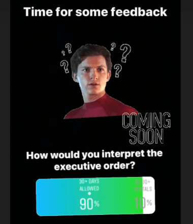 Poll of instagram viewers