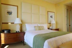 The rooms aren't the most modern, but they're comfy and luxurious still