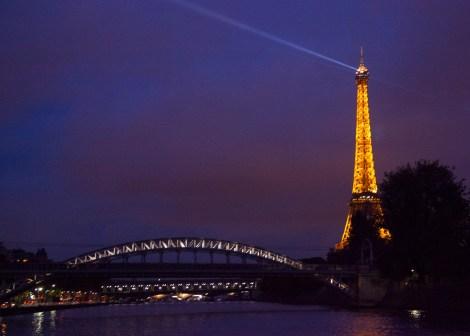 Eiffel Tower and bridge.