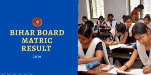 Bihar Borad 10th result 2020