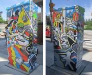 "2015 - ""Beep!"" for StreetART's Outside the Box program, @ Queen St. W & Dufferin"