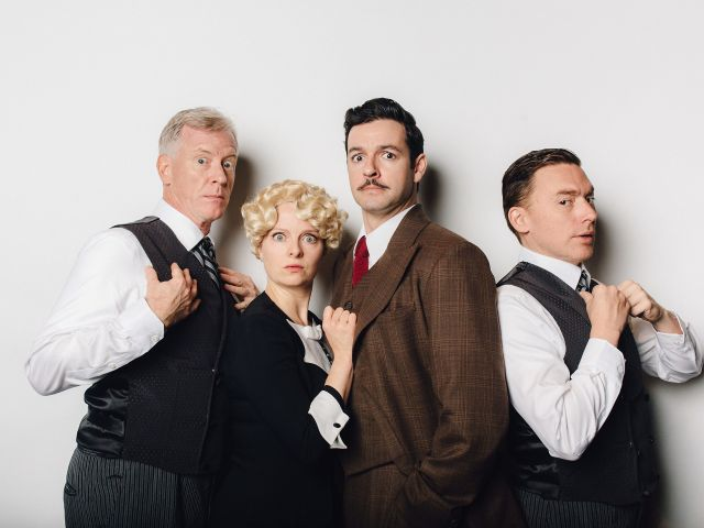 Andy Curtis and Ron Pederson promise thrilling comedy in Vertigo Theatre's production of The 39 Steps