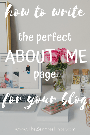 Do you struggle with writing about yourself? Find out how to write the perfect about me page for your blog or website! Check out these valuable tips on writing an about page. #blogging #bloggingtips #writing #aboutpage #aboutme #aboutmepage #bloggingforbeginners