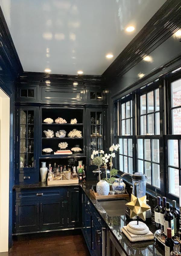 Our High Gloss Blue bar/Butler's Pantry: Before and After