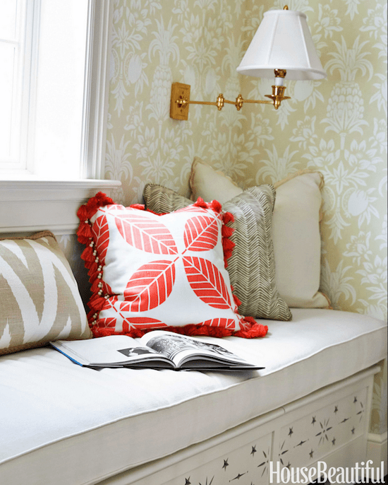 Palm Beach Decor wallpaper in a sitting nook