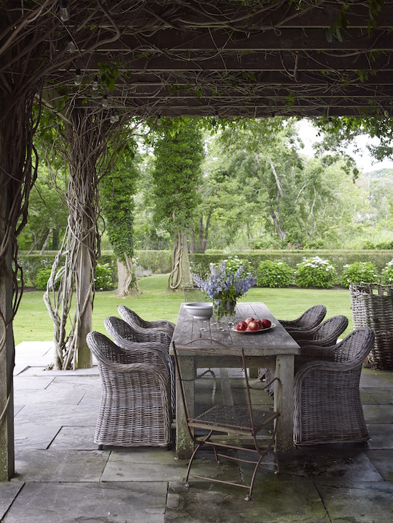 patio scene from Out East - Houses And Gardens Of The Hamptons
