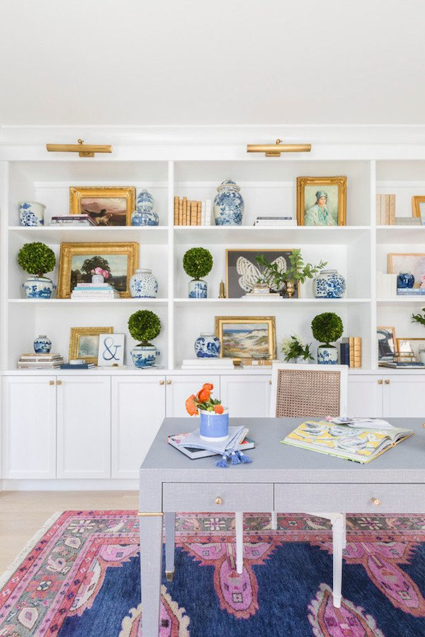 Caitlin Wilson's Home Tour book case office