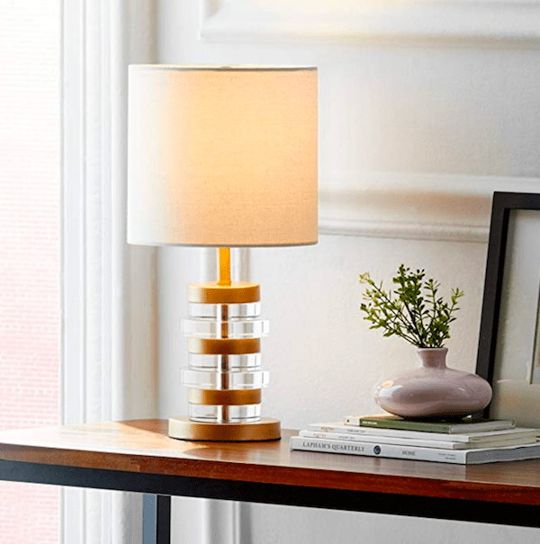 this lamp is an affordable home decor accessory