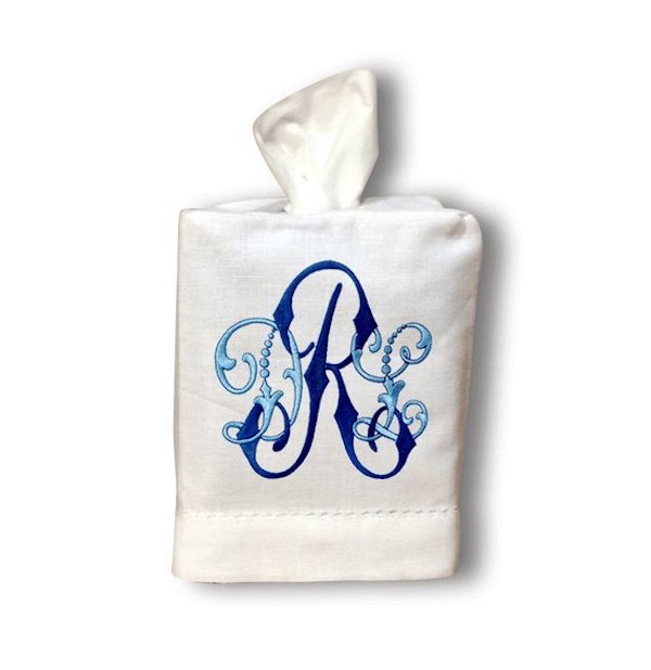 affordable home decor accessories including this monogram tissue box