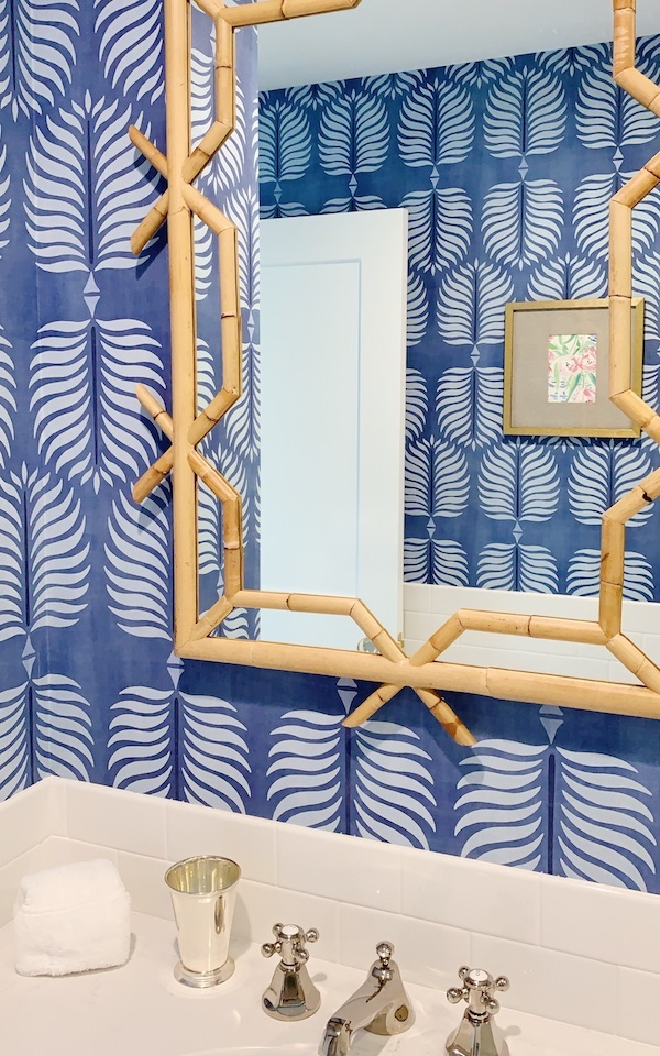Best Wallpaper Trends blue and white leaf pattern wallpaper