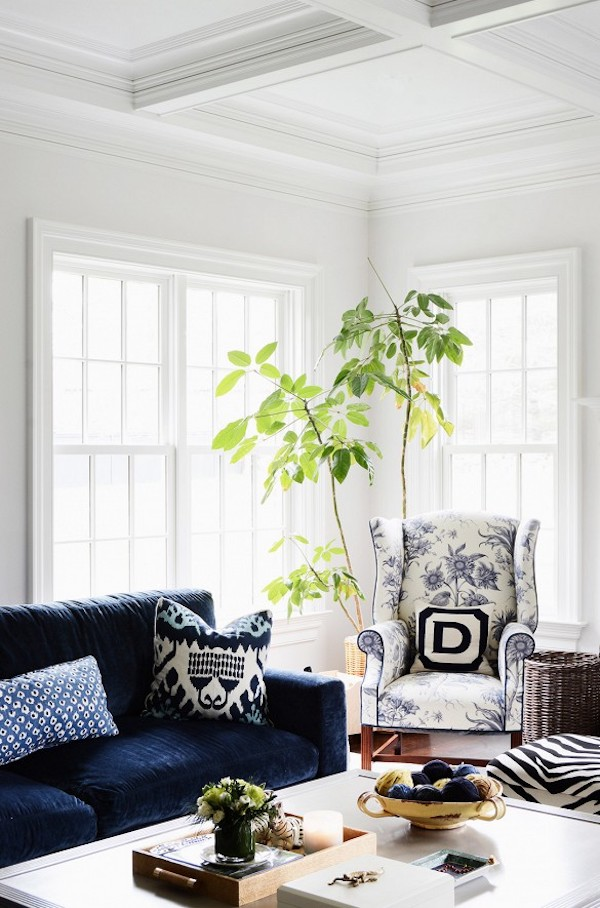 calm on walls with white dove by Benjamin Moore on windoow trim