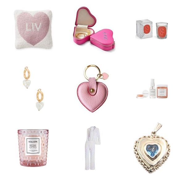 collage of Valentines Day gifts