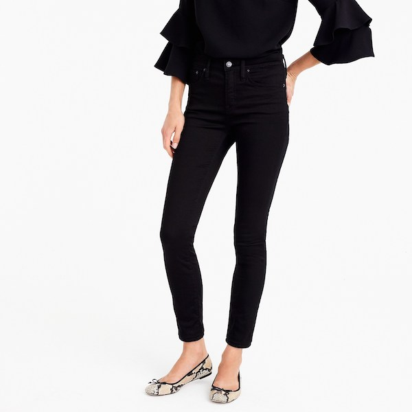 high-rise stretchy toothpick jean in new black