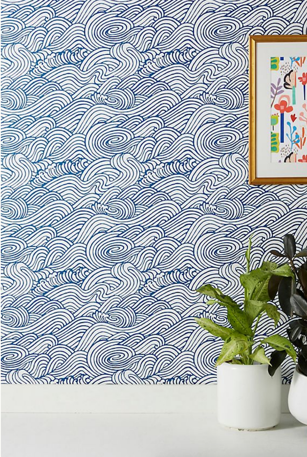 beach house bathroom wallpaper ideas