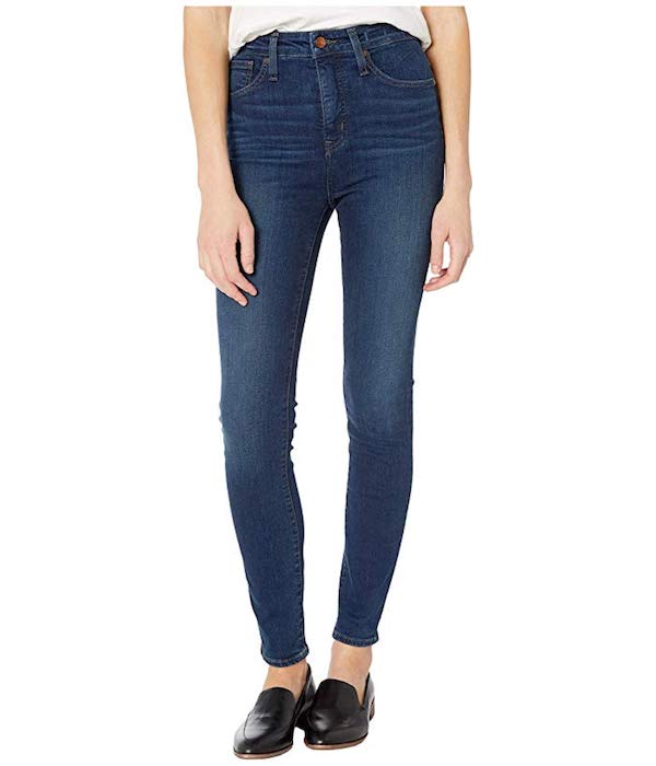 Work From Home Outfit Ideas skinny stretch Madewell jeans