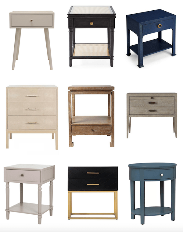 round up of great looking nightstands and bedside tables