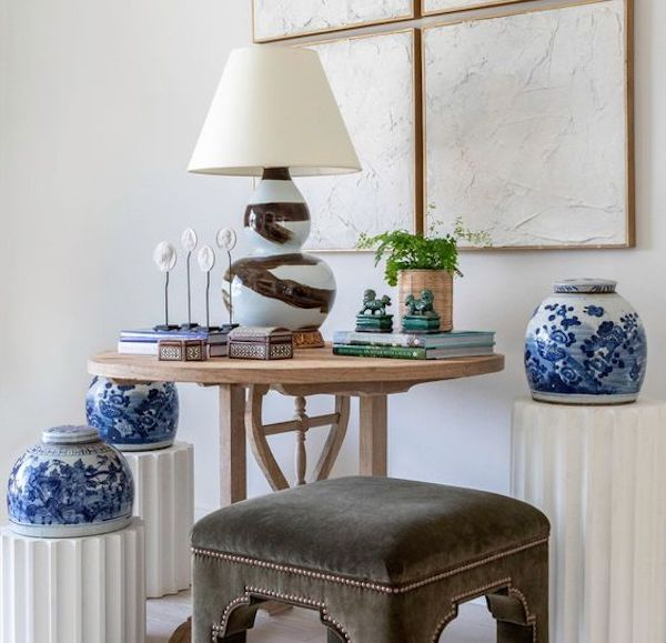 artful vignette from Paloma and Co. an interior designer owned shop