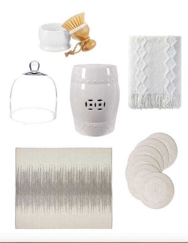 neutral home decor accessories from Amazon collage