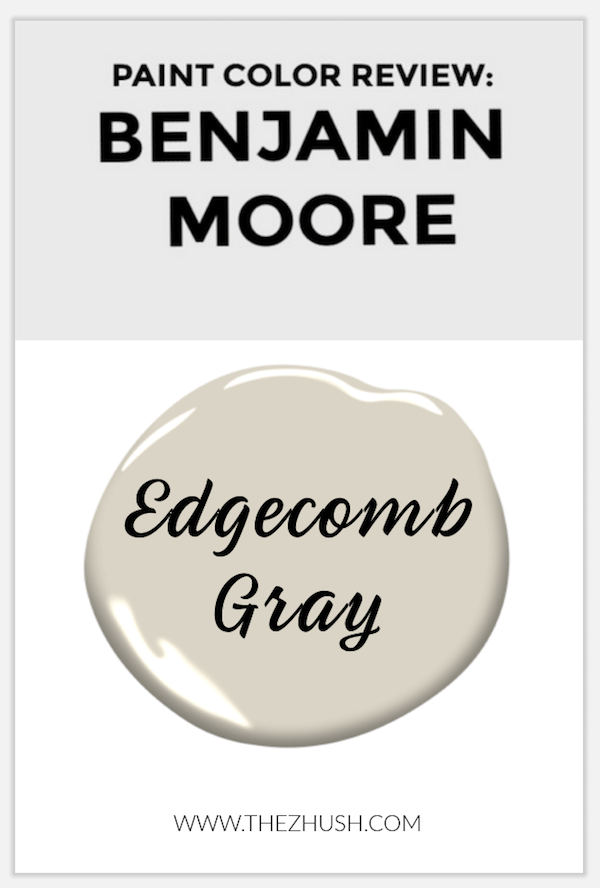 pinnable image of Edgecomb Gray by Benjamin Moore paint sample