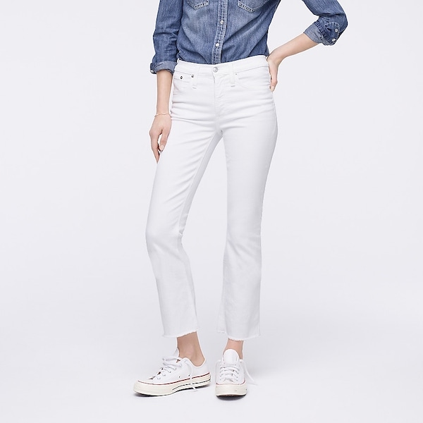 women's white denim jeans