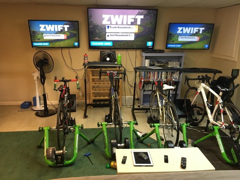 bikes arranged in indoor gym