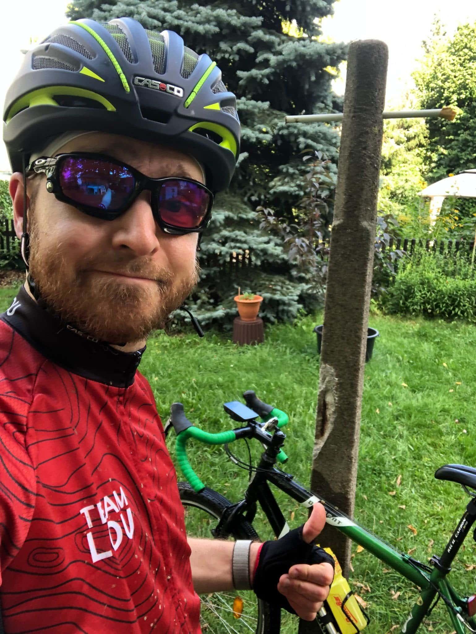 Falk with his bike