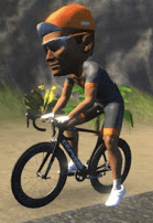 cycling avatar with large head