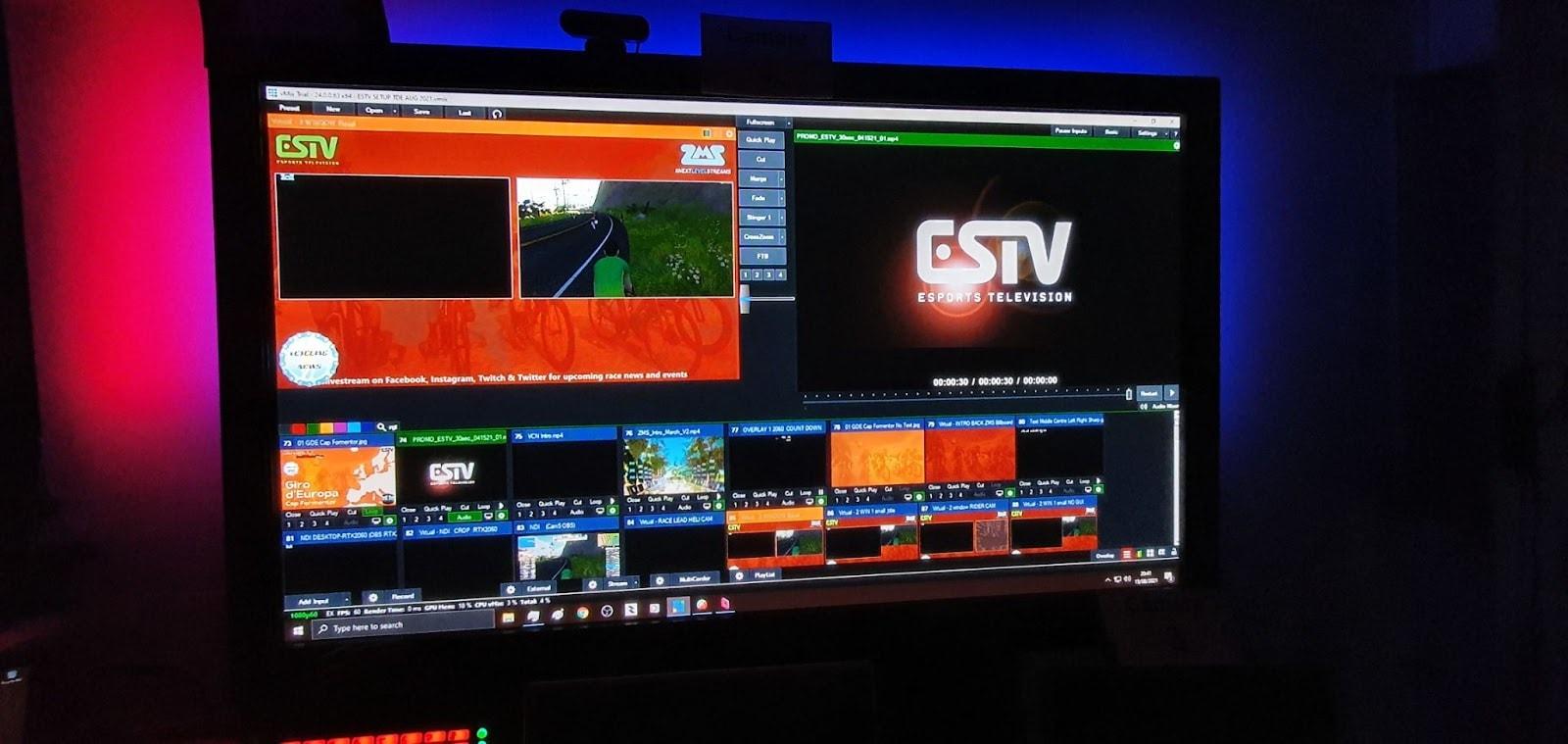 ZMS live stream control console