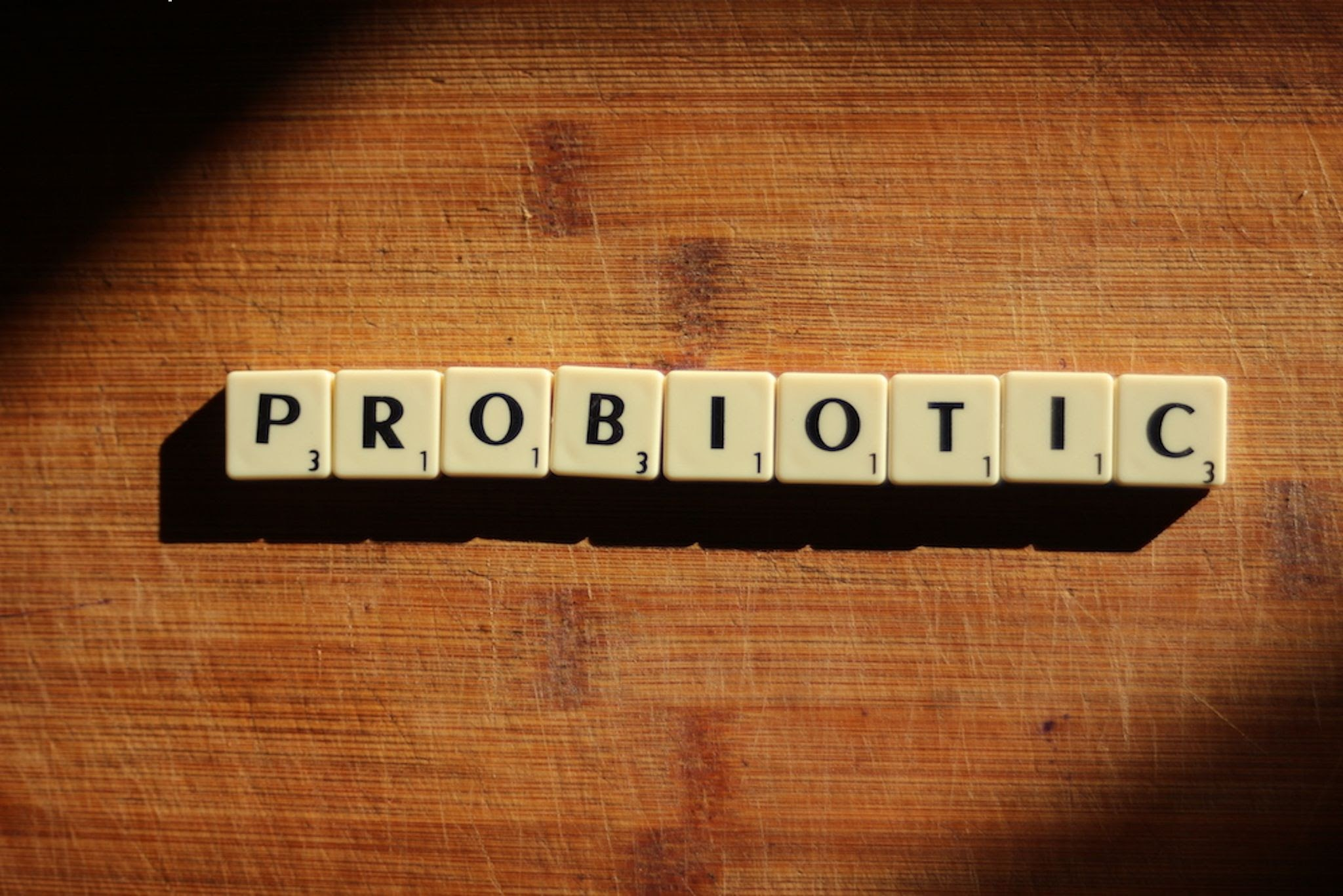 probiotic benefits smelled out in letters