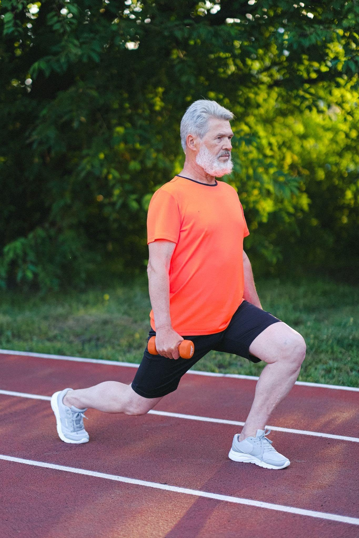 strength training by senior