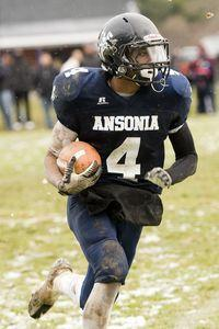 Ansonia running back Tajik Bagley will have plenty to say about the NVL championship hunt. (Erin Covey/RA)
