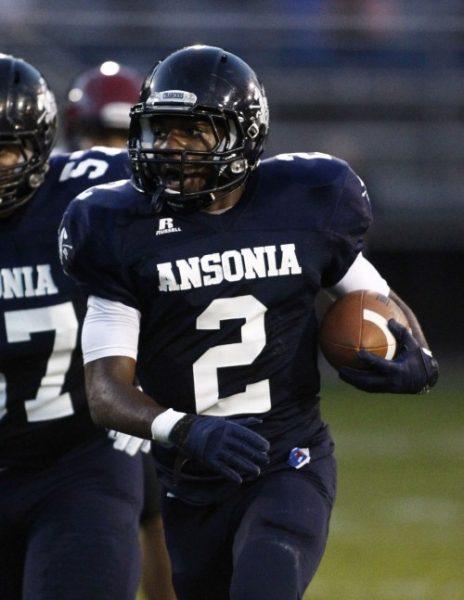 Ansonia running back Arkeel Newsome (RA)