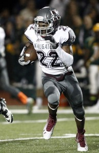 Naugatuck running back Antoine Sistrunk seems to be a sure bet for the All-NVL team. (Christopher Massa/RA)