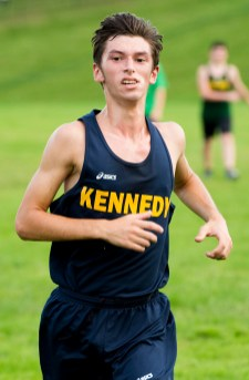 Kennedy's Alex Brites was the top male finisher in Wednesday's meet with Holy Cross, Torrington and Wilby at Holy Cross High School in Waterbury. Jim Shannon Republican American