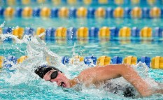 Seymour's Kaitlyn McCluskey took first in the 200 Yard Freestyle with a time of 2:07:31 during their NVL meet with Torrington Tuesday at Seymour High School. Jim Shannon Republican American