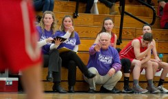 Northwestern head coach Fred Williams calls out instructions during his team's game against Lewis Mills Friday at Lewis Mills. Jim Shannon Republican American