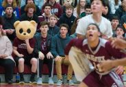 Naugatuck fans look on as their school defeated Wolcott in NVL action Tuesday at Wolcott High School. Jim Shannon Republican American